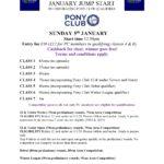 January Jump Start Schedule