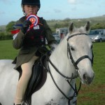 1st overall in Working Hunter Ponies for Charlotte Harding and Safety First