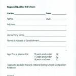 Equitation Entry Form