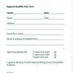 Equitation Entry Form